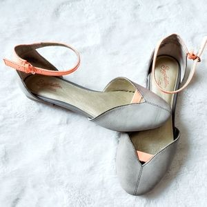 SEYCHELLES genuine leather ankle strap flats